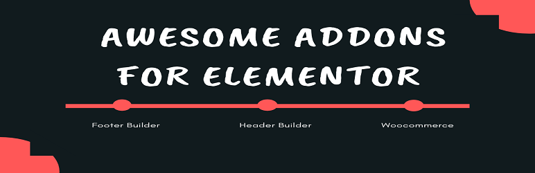 WordPress Awesome Addons For Elementor Plugin Banner Image