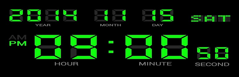 WordPress Awesome Clock Widget Plugin Banner Image