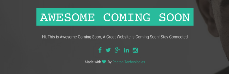 WordPress Awesome Coming Soon Plugin Banner Image