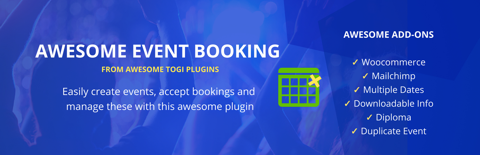 WordPress Awesome Event Booking Plugin Banner Image
