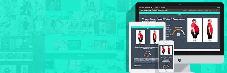 WordPress Awesome Fitness Testimonials Plugin Banner Image