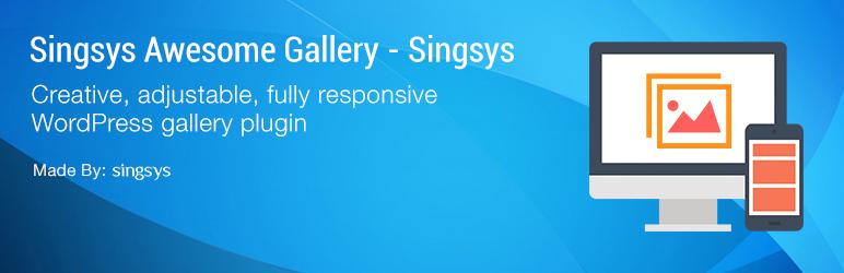 WordPress Singsys -Awesome Gallery Plugin Banner Image