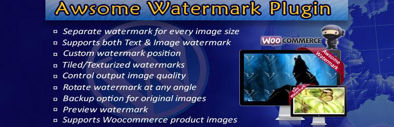 WordPress Awesome Watermark Plugin Banner Image