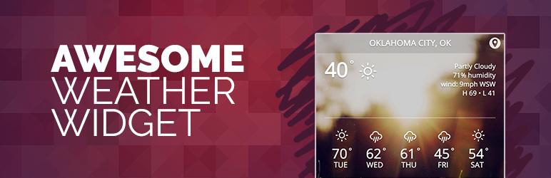 WordPress Awesome Weather Widget Plugin Banner Image