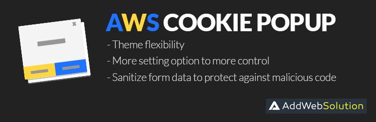 WordPress AWS Cookies Popup Plugin Banner Image