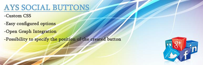 WordPress Ays Social Buttons Plugin Banner Image
