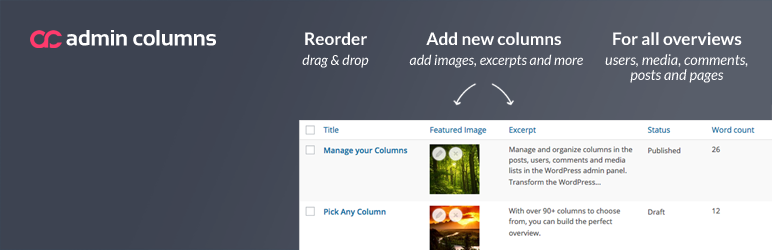 WordPress Plugin codepress-admin-columns