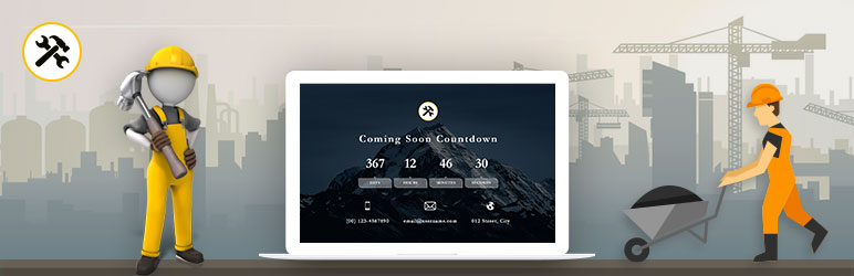 WordPress Coming Soon Countdown Plugin Banner Image