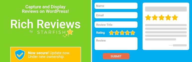 WordPress Rich Reviews by Starfish Plugin Banner Image