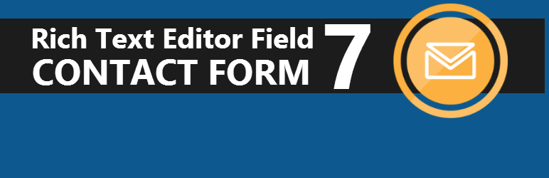 WordPress Rich Text Editor Field for Contact Form 7 Plugin Banner Image