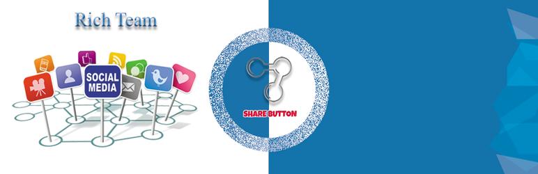 WordPress Share Buttons – Social Media Plugin Banner Image