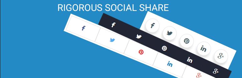 WordPress Rigororus Social Share Plugin Banner Image
