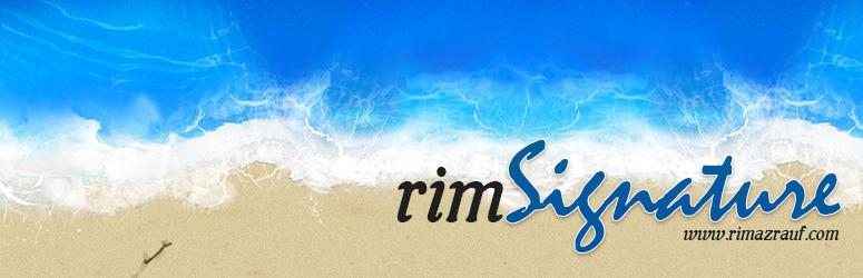 WordPress Rim Signature Plugin Banner Image