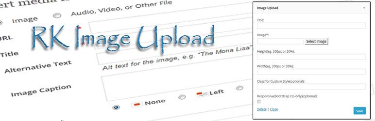 WordPress Rk Image Upload Plugin Banner Image