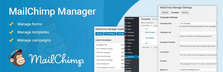 WordPress MailChimp Manager Plugin Banner Image