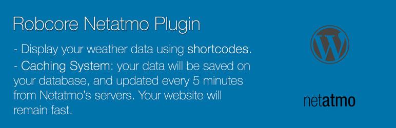WordPress Robcore Netatmo Plugin Banner Image