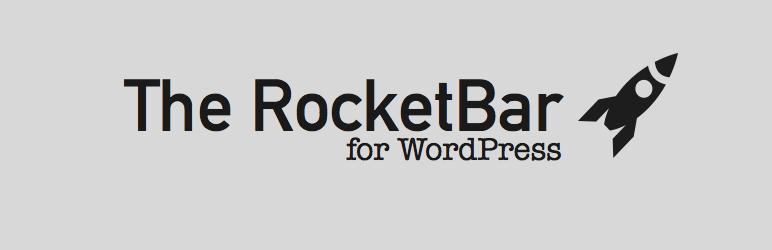 WordPress The RocketBar Plugin Banner Image