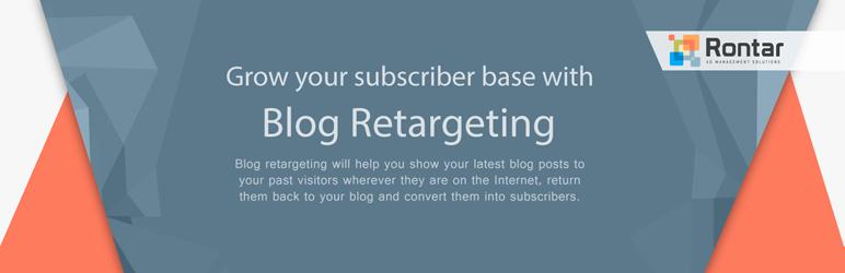 WordPress Rontar Blog Retargeting Plugin Banner Image