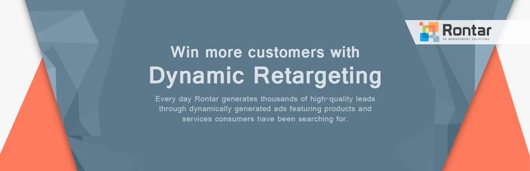 WordPress Rontar Dynamic Retargeting for WooCommerce Plugin Banner Image