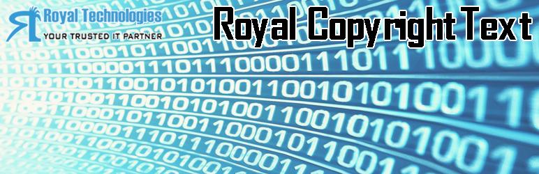 WordPress Royal Copyright Text Plugin Banner Image
