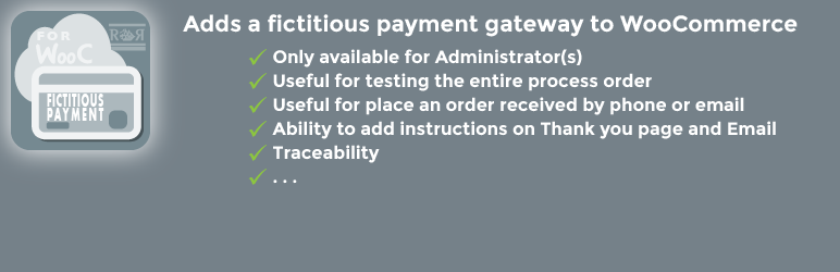 WordPress RR Fictitious Payment for WooCommerce Plugin Banner Image