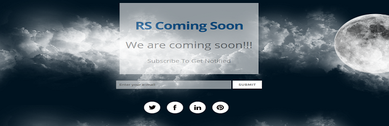 WordPress RS Coming Soon Plugin Banner Image