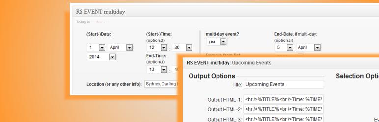 WordPress RS EVENT multiday Plugin Banner Image