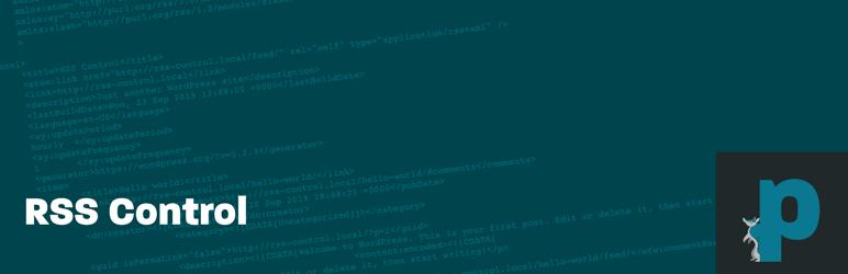 WordPress RSS Control Plugin Banner Image