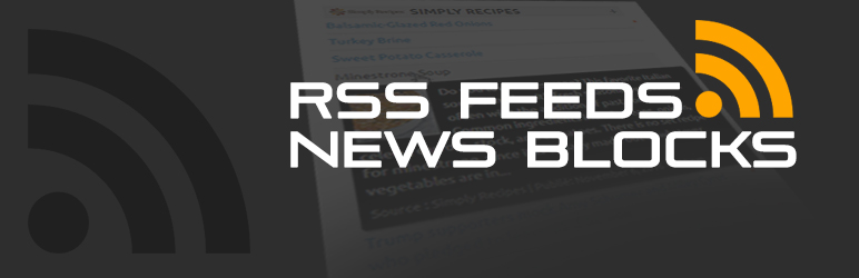 WordPress RSS Feeds News Blocks Plugin Banner Image