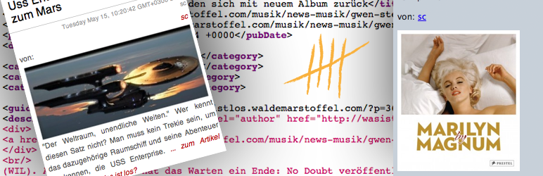 WordPress RSS Image Feed Plugin Banner Image