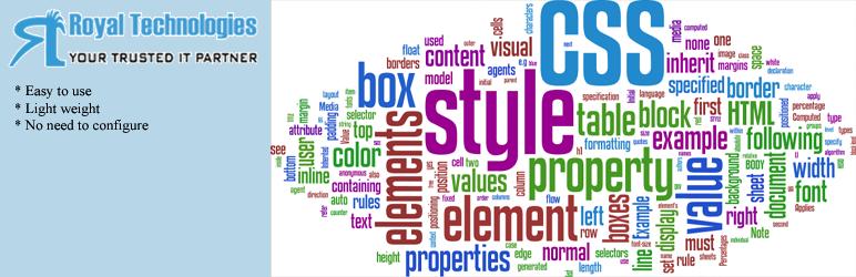 WordPress Royal Custom CSS for Page and Post Plugin Banner Image