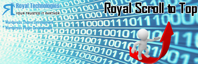 WordPress Royal Scroll to Top Plugin Banner Image