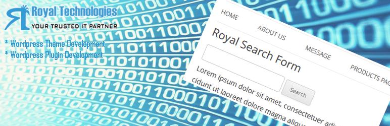 WordPress Royal Search Form Plugin Banner Image