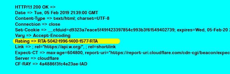 WordPress RTA – Restricted To Adult Plugin Banner Image