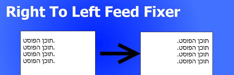 WordPress RTL Feed Fixer Plugin Banner Image