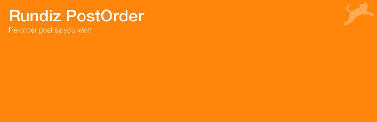 WordPress Rundiz PostOrder Plugin Banner Image