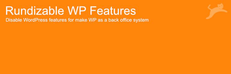 WordPress Rundizable WP Features Plugin Banner Image