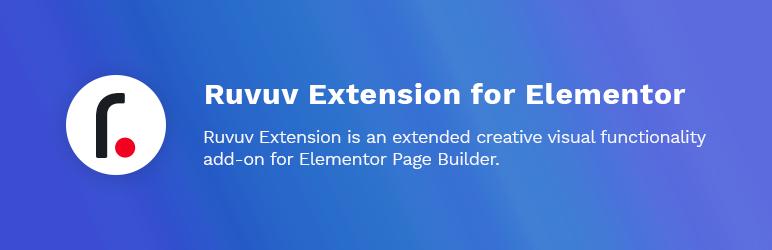 WordPress Ruvuv Extension for Elementor Plugin Banner Image