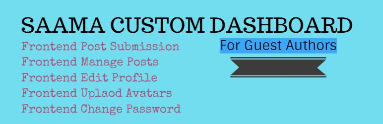 WordPress Saama Custom Dashboard Plugin Banner Image