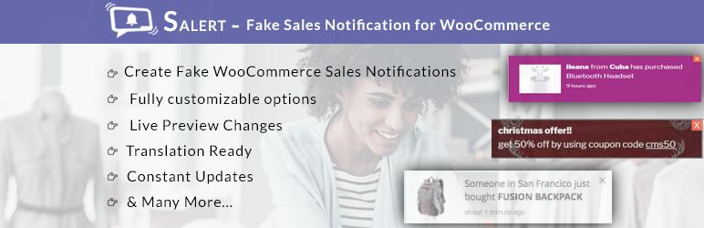 WordPress SALERT – Fake Sales Notification for WooCommerce Plugin Banner Image
