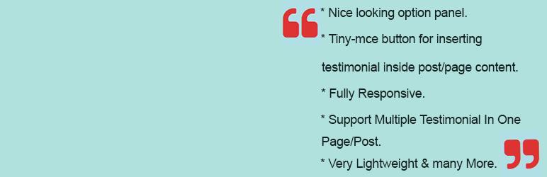WordPress Sanchari Testimonial Plugin Banner Image