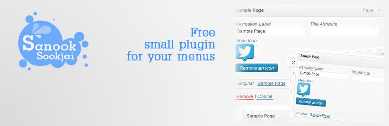 WordPress SanookSookjai Menu Icon Plugin Banner Image