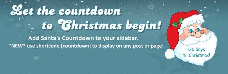 WordPress Christmas Countdown Widget Plugin Banner Image