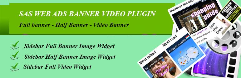 WordPress SAS WEB ads-banner-video Plugin Plugin Banner Image