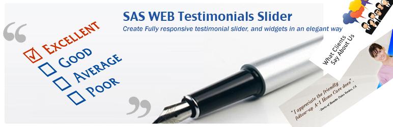 WordPress SAS WEB Testimonials Slider Plugin Banner Image