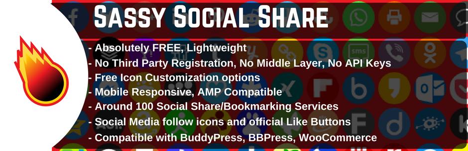 WordPress WordPress Social Sharing Plugin – Sassy Social Share Plugin Banner Image