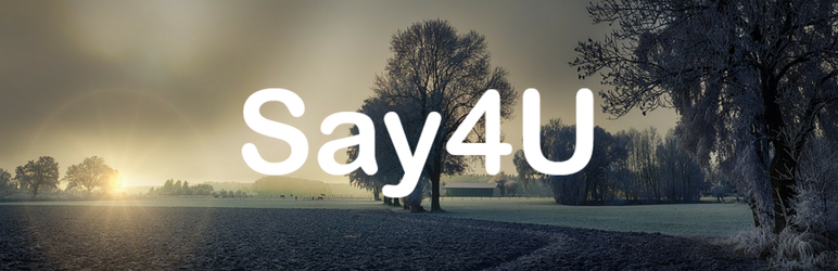 WordPress Say4U Plugin Banner Image