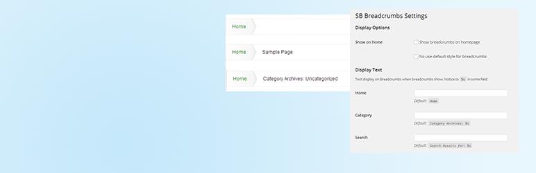 WordPress SB Breadcrumbs Plugin Banner Image