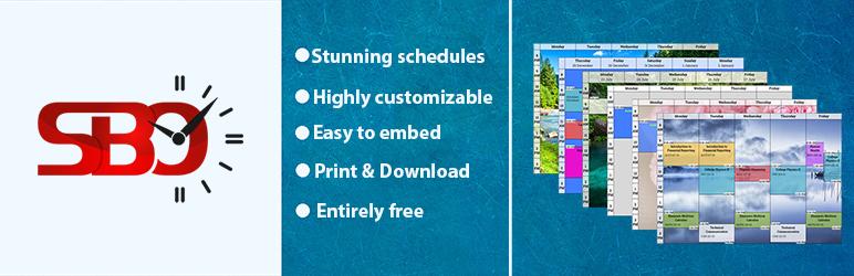 WordPress Schedule Builder Online Plugin Banner Image