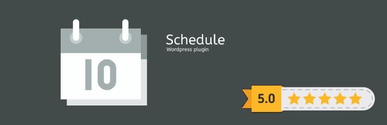 WordPress Schedule Plugin Banner Image